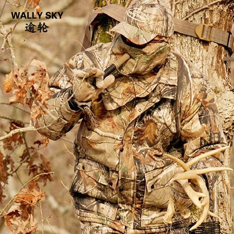 Здесь можно купить  4PCS Water Resistant Bionic Camouflage Military Suit Silencer Breathable Bow Hunting Ghillie Suit Jacket Pants Hat Mask Woodland  Спорт и развлечения