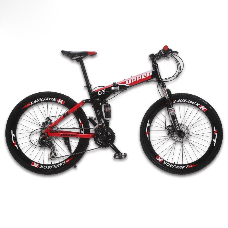 GT-UPPER Sepeda gunung sistem suspensi penuh rangka lipat baja 24 - Bersepeda - Foto 3