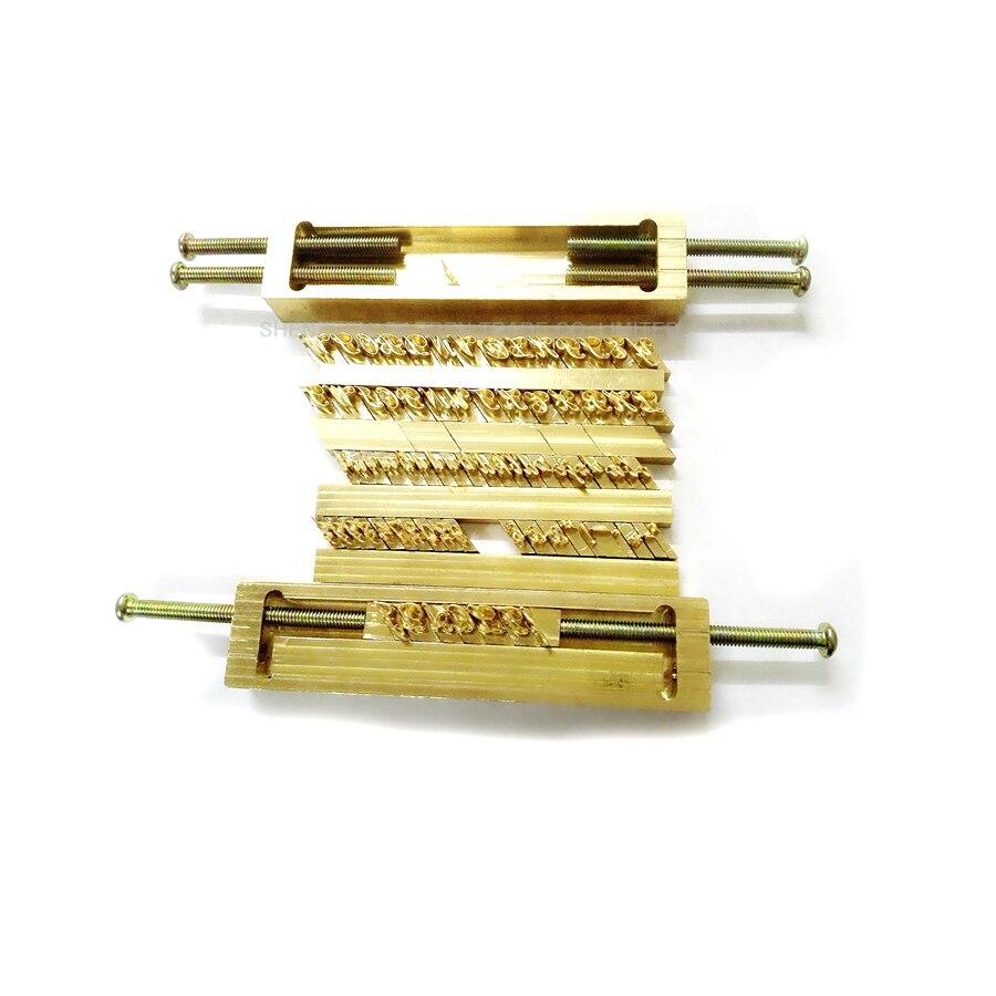 1 pc laiton flexible lettres CNC gravure moule feuille chaude estampage machine symbole personnalisation police