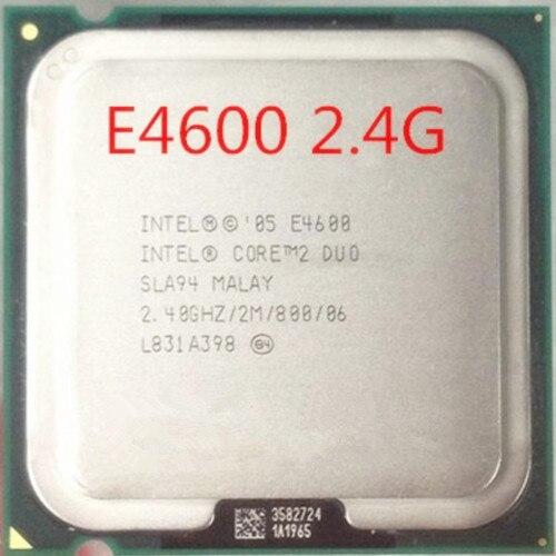 Бесплатная доставка для Intel Pentium Dual Core E4600 2.4 Г Настольный Компьютер Intel 775-контактный ПРОЦЕССОР