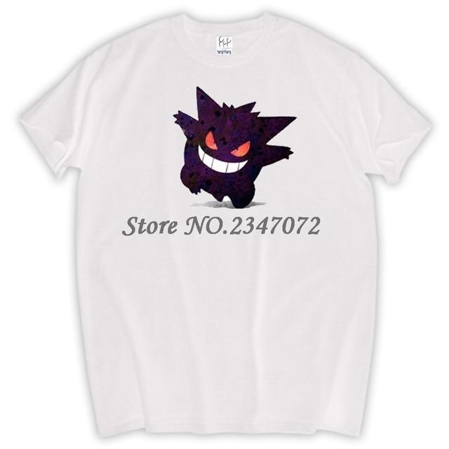 ea1c339ee50f6 Gastly Gengar Pokemon Go T Shirt Design 3D Effect T-shirt Cool Novelty  Funny Tshirt Style Men Women Printed Fashion Top Tee