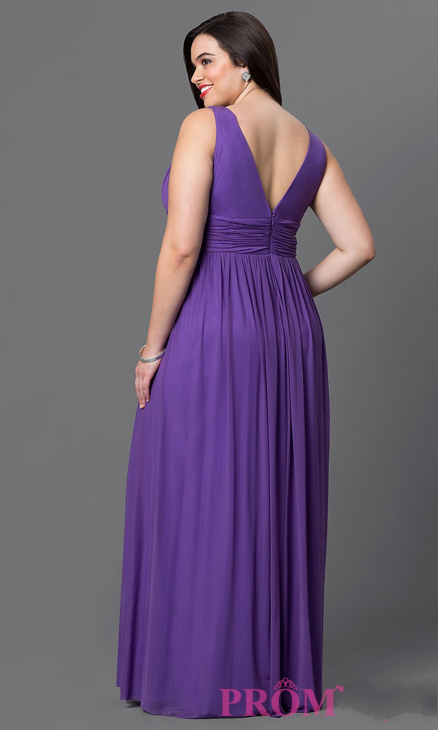 Robe De Soiree Longue Plus Size Evening Dresses 2016 Long Formal Dress  Beaded Purple Chiffon Party Speicial Occasion Dress-in Evening Dresses from  Weddings ... 023c9913e199
