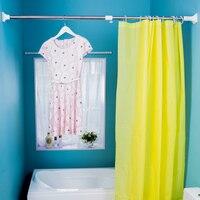 Bathroom Adjustable Curtain Rod Spring Loaded Bath Bar Shower Telescopic Tension Poles Rail Hanger Rods 248 350cm DQ0350 1