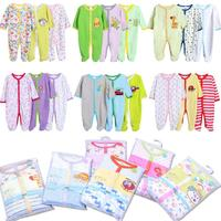 3PCS Lot Baby Footed Rompers Infant Romper Long Sleeve Newborn Romper With Foot Rompers For Babies