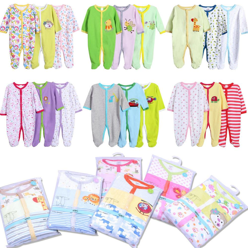 3PCS/Lot Baby Footed Rompers Infant Romper Long Sleeve Newborn Romper With Foot Rompers For Babies Boy Girl Baby Clothing newborn baby rompers baby clothing 100% cotton infant jumpsuit ropa bebe long sleeve girl boys rompers costumes baby romper