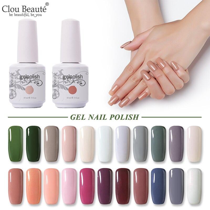 Clou Beaute Gel Nail Polish 15ML Gel Polish Semi Permanent