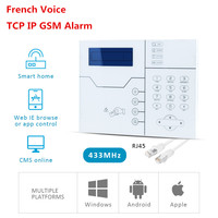 Free Shipping RFID Tags Support TCP IP Alarm SMS GSM Alarm Smart Home Alarm System with WebIE and App Control