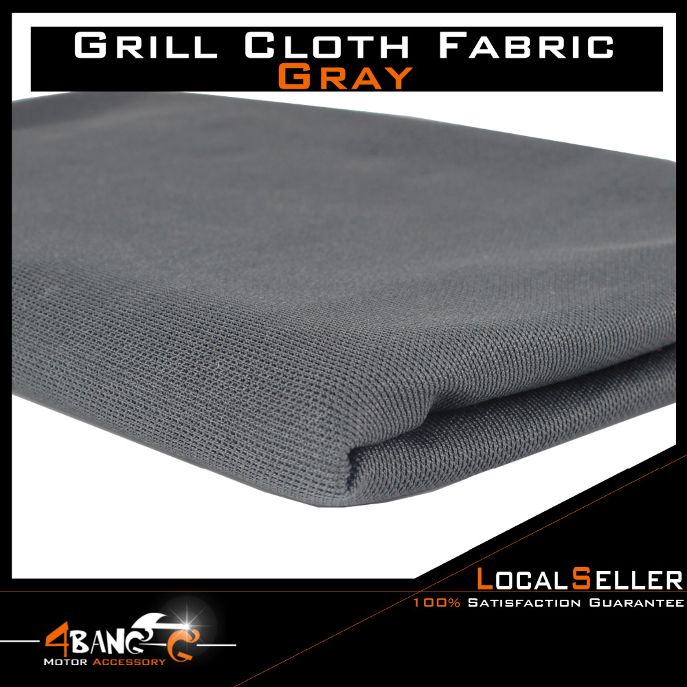 Gray  Hot Speaker Grill Cloth Speaker Mesh Stereo Grille Fabric Decorative  Sizes Options