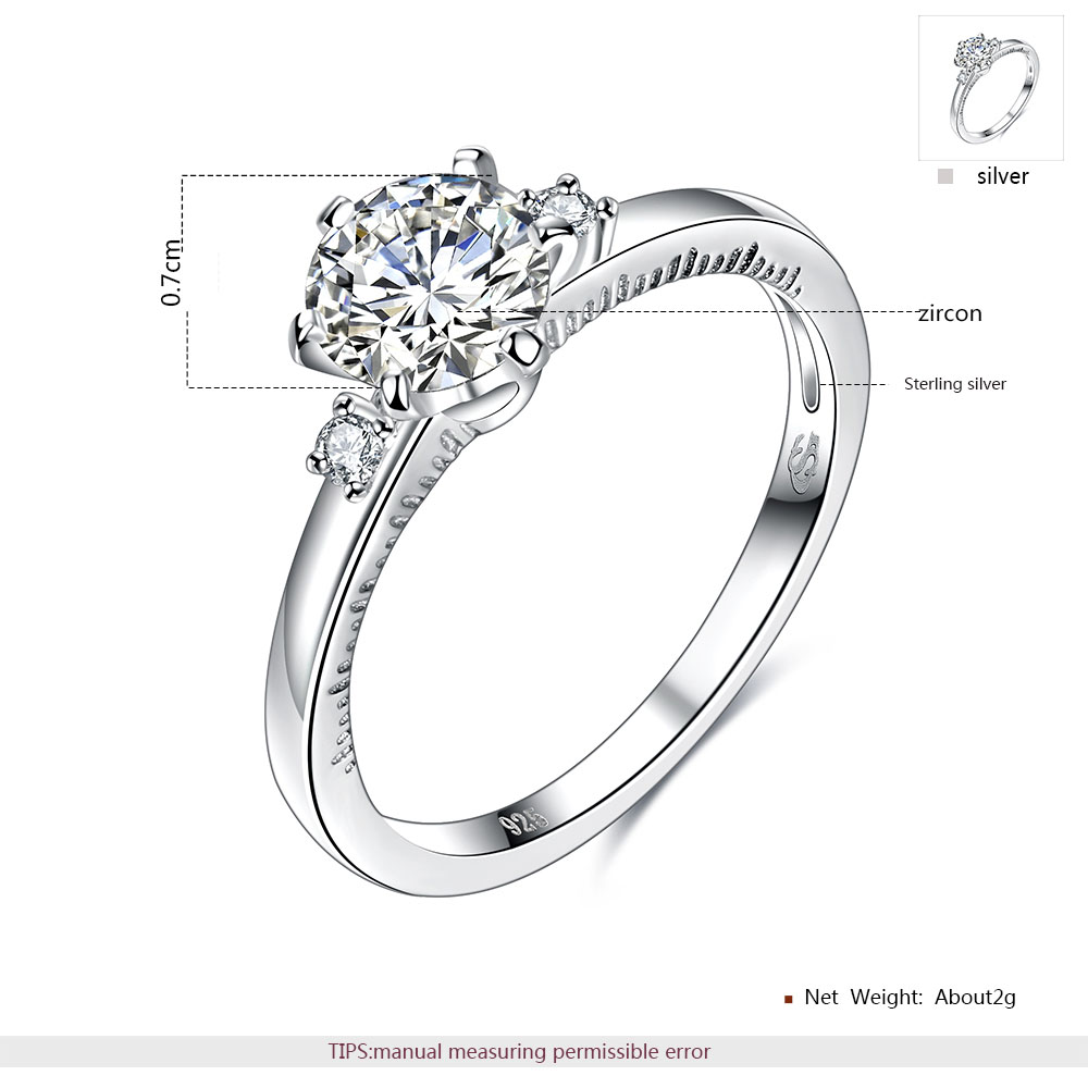 ROXI Rings For Women 925 Sterling Silver Ring Fashion Body Jewelry Exquisite Inlaid Zircon For Gift