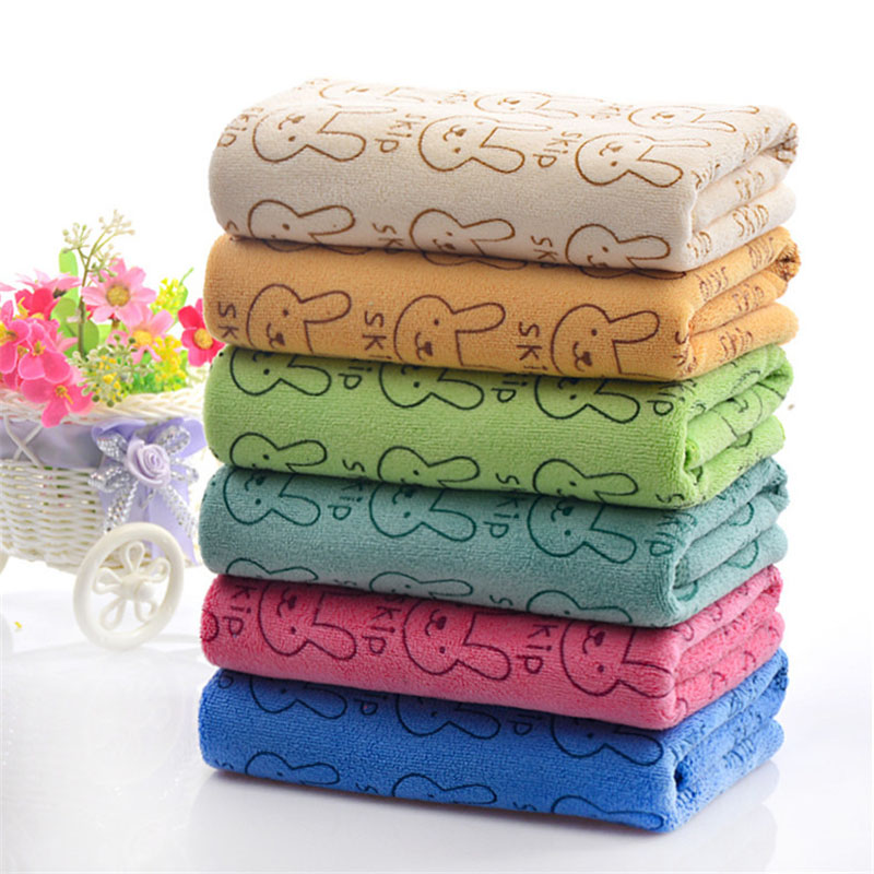 Inventive Cute Microfiber Absorbent Drying Bath Beach Towel Washcloth Swimwear Baby Towel