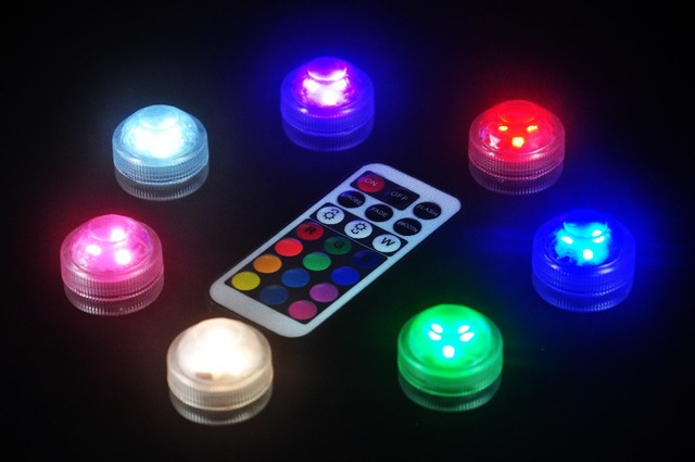 10pcsset Mini Original Remote Control Mini 3led Led Submersible
