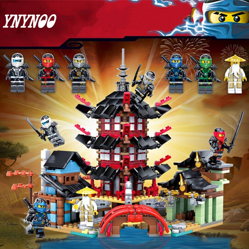 (YNYNOO) Ninja Temple of Airjitzu Ninja Smaller Version Bozhi 737 pcs Blocks Set Toys for Kids Building Bricks Compatible fundamentals of physics extended 9th edition international student version with wileyplus set