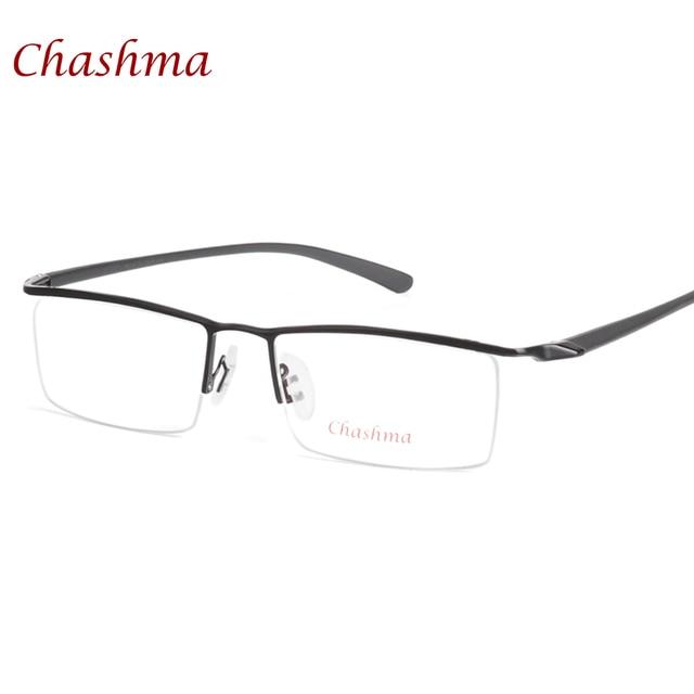 Chashma Marca Design Simples Liga De Titânio De Óculos Masculinos Óculos de  Armação de óculos para 62b05b8c80