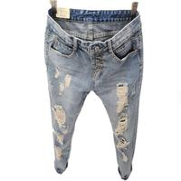 Boyfriend Jeans For Women New Fashion Summer Style Women Jeans Loose Holes Denim Harem Pants Ripped
