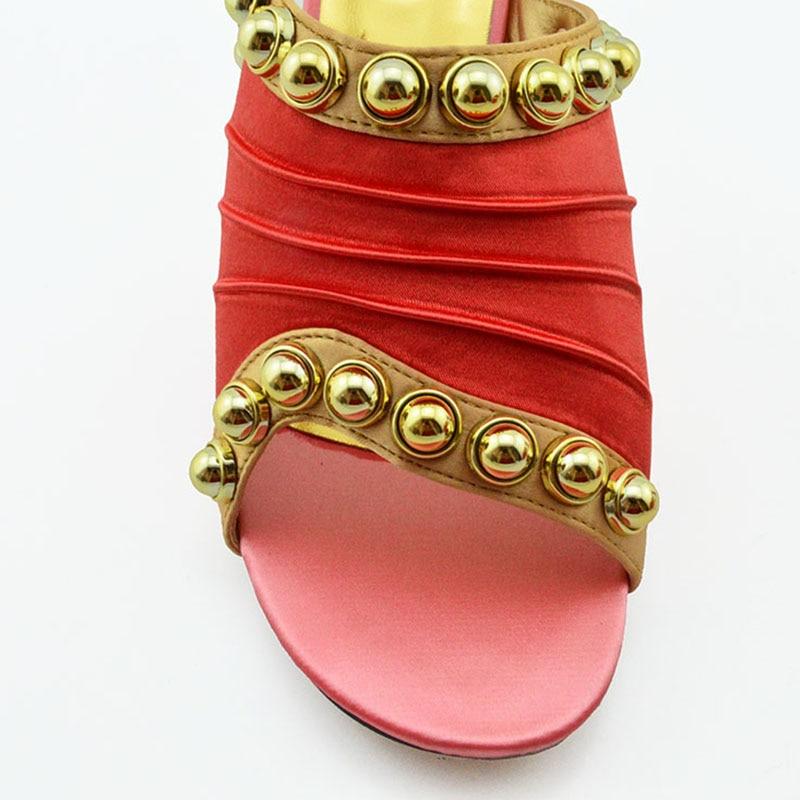 جديد وصول الوردي اللون المرأة الأفريقية مطابقة الأحذية الايطالية و مجموعة الحقائب مزينة حجر الراين السيدات الايطالية حذاء وحقيبة-في أحذية نسائية من أحذية على  مجموعة 3