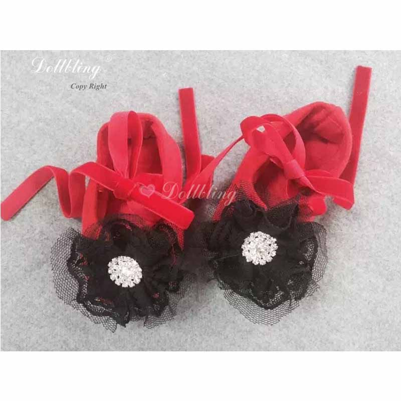 Handmade Red And Black Ladybug Flower Baby Girl //Toddler Headband
