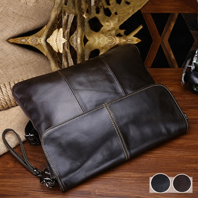 New wax oil genuine leather male casual shoulder bag messenger bag first layer laptop bag clutch ultra-thin leather qiaobao 2018 new korean version of the first layer of women s leather packet messenger bag female shoulder diagonal cross bag