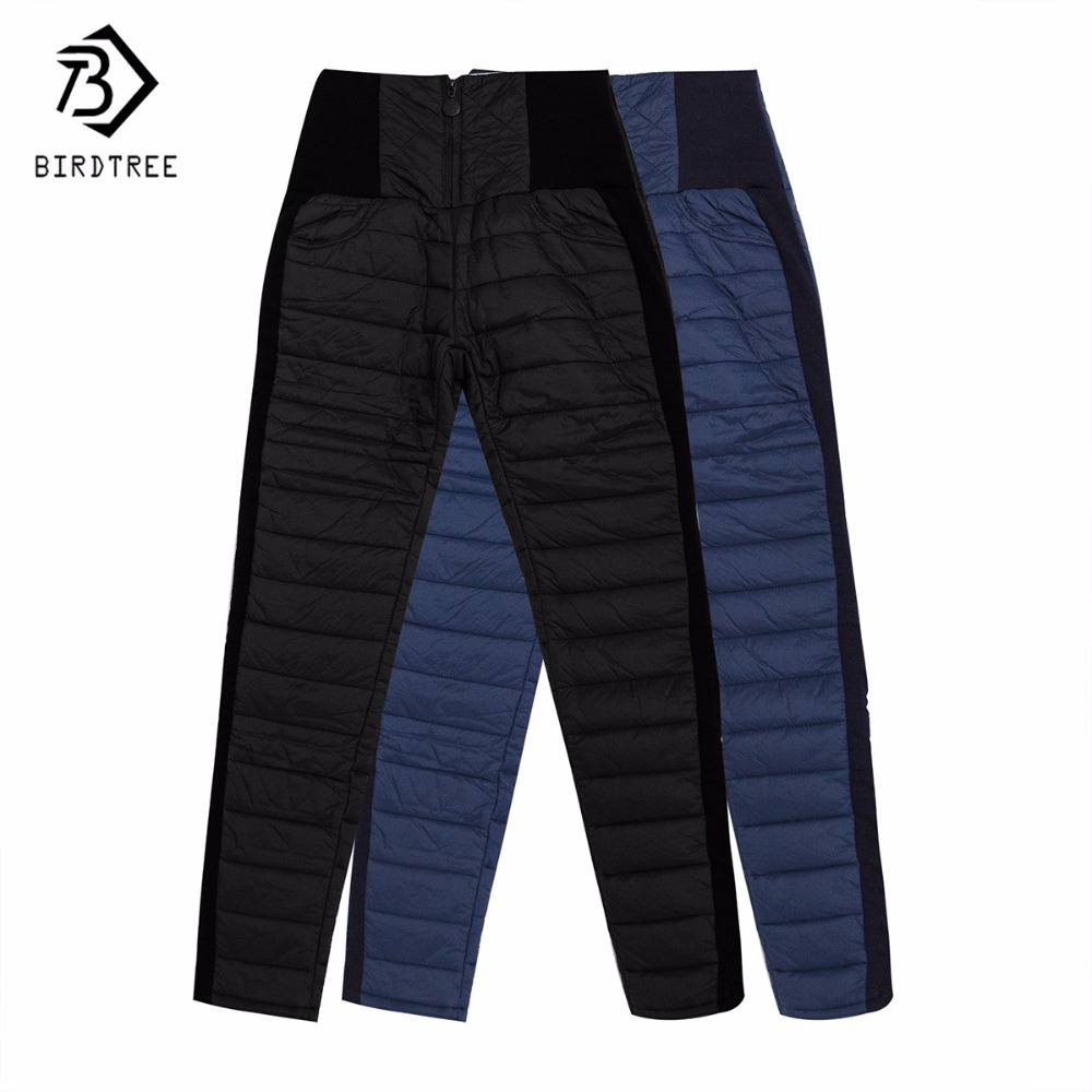 Women Formal Pants New Winter High Waisted Outer Wear Women Female Fashion Slim Warm Thick Down Pants Trousers Skinny B6O262R