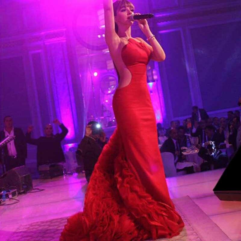 Vestido Longo Vermelho Myriam Fares