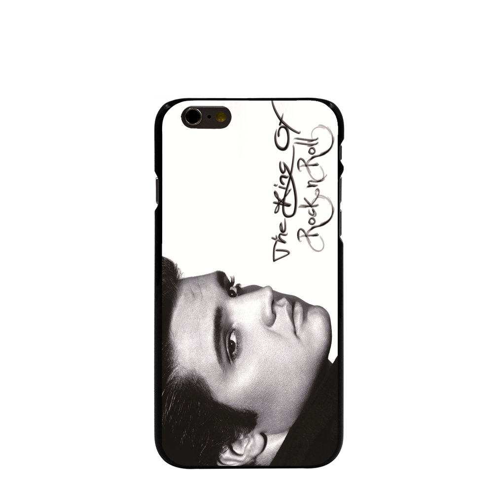 08586 Elvis Presley The King of Rock n Roll Hard black Cover Skin Back Case for iPhone 4 4S 5 5S 5C 6 6S Plus 6SPlus