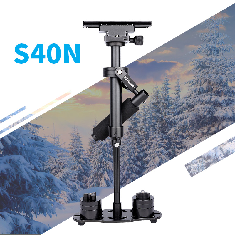 YELANGU S40N Professional Handheld Stabilizer Steadicam For Camcorder Digital Camera Video Canon Nikon Sony DSLR Mini Steadycam boya by wm5 by wm6 camera wireless lavalier microphone recorder system for canon 6d 600d 5d2 5d3 nikon d800 sony dv camcorder