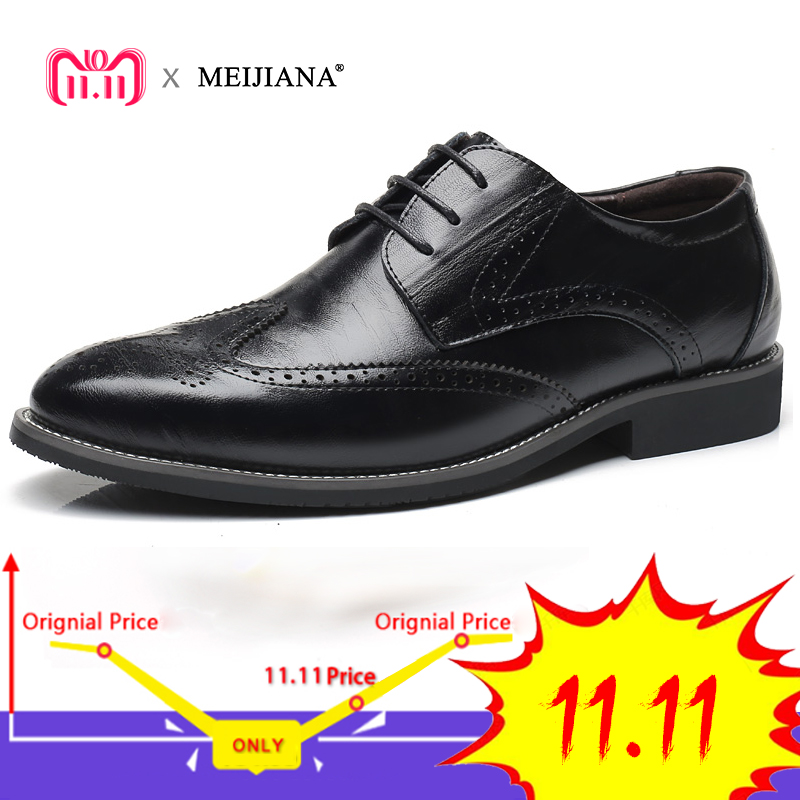 Gentleman Oxford Shoes Men's Dress Business Party Shoes Casual High Quality Brogue Lace Up Summer Oxford Male Plus Size 38-47 oxford borboniqua oxford