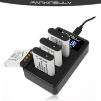 4X NP BX1 NP BX1 Battery + 3 Slots LED Charger for Sony DSC RX100 M6 M5 M4 M3 M2 CX405 CX240E PJ410 HX300 HX400 HX50 HX60 GWP88