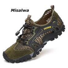 Misalwa Мужские Сетки Hikin обувь летние Styl дышащие легкие сандалии для девочек спортивная обувь качество армейский зеленый Повседневная обувь для взрослых