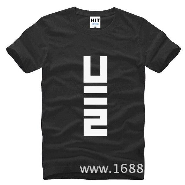 Rock berlim banda U2 homens soltos homens T Tshirt da camisa da forma 2015 New manga curta O pescoço t-shirt de algodão T Camisetas Hombre