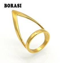 Borasi женское кольцо золотого цвета Ширина 32 мм большое из