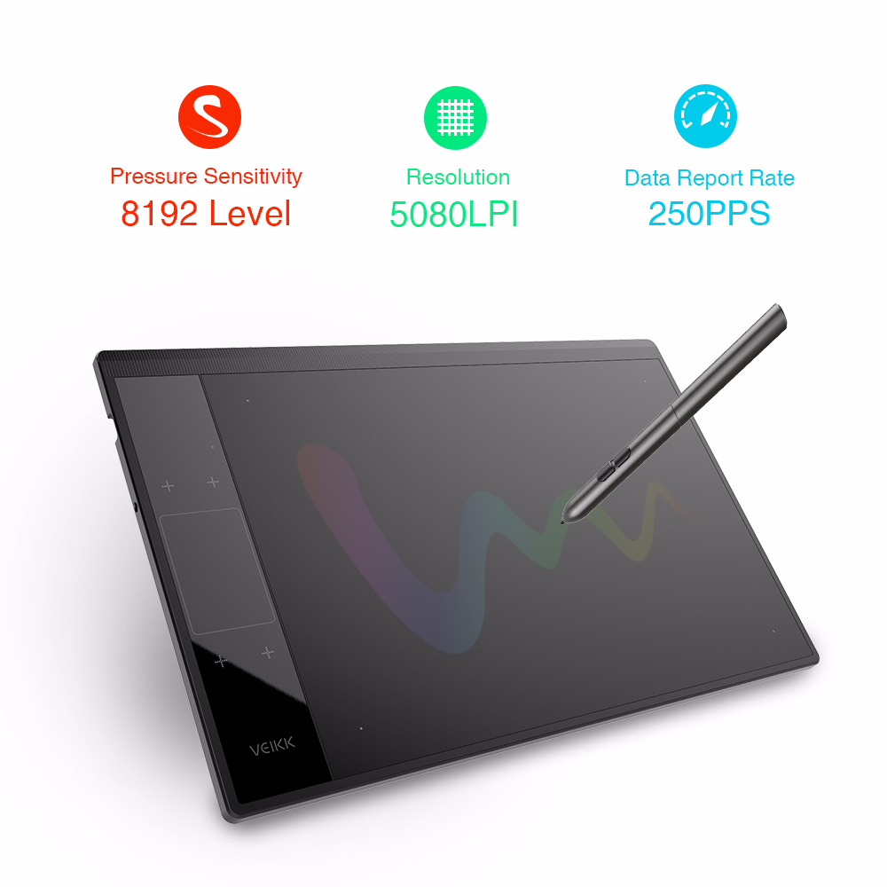 VEIKK A30 Graphic Drawing Tablet for Illustrator 10x6 inches Large Active Area Digital Drawing Pad For Artists in Digital Tablets from Computer Office