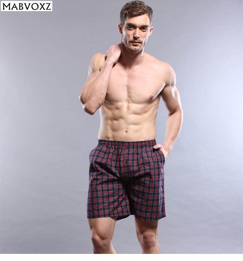 Home Pyjamas men Shorts 100% Cotton Casual Comfortable Breathable sleep bottoms