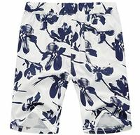 XQS Mens Board Shorts Hawaiian Shorts Swim Trunks