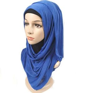 Image 4 - 31 color 10pcs/lot High quality jersey scarf cotton plain elasticity shawls maxi hijab long muslim head wrap long scarves/scarf