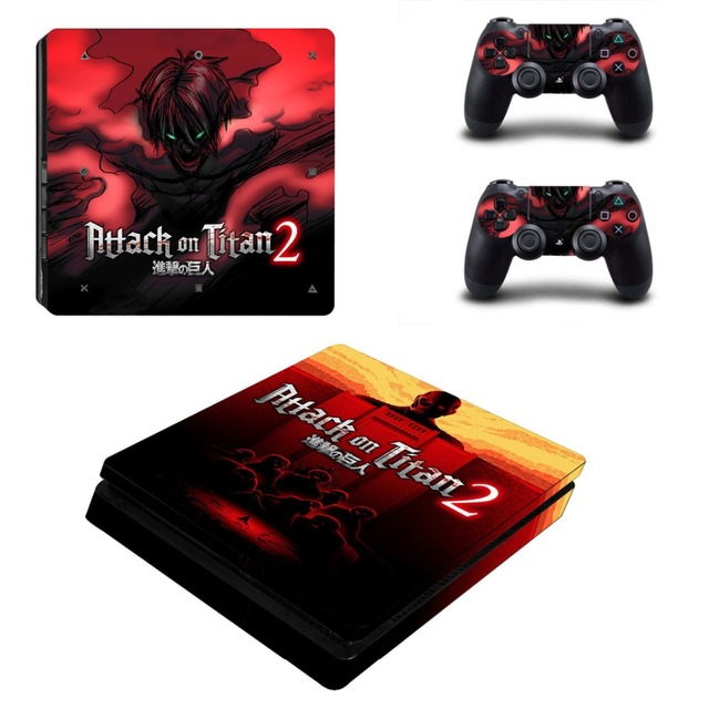 Attack on Titan PS4 Slim Skin Sticker Decals
