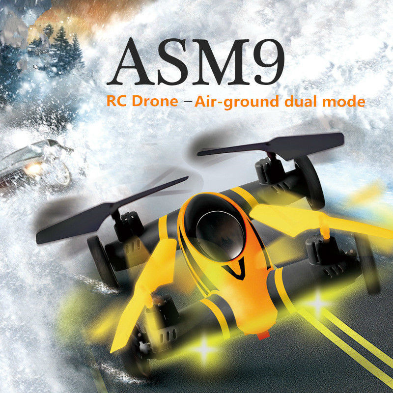 Newest Air-Land Dual Mode RC Flying Car Drone Quadcopter UFO CG038 same size as X5C RC Helicopter Best Toys for Kids vs X9 mini drone rc drone quadcopters headless mode one key return rc helicopter vs jjrc h8 mini h20 dron best toys for kids