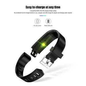 Image 5 - ID115 PLUS Color Screen Smart Bracelet Sports Pedometer Watch Fitness Running Walking Tracker Heart Rate Pedometer Smart Band