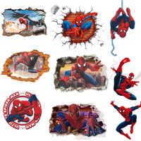 45*50 CM 3D Popular Spiderman película de dibujos animados casa pegatina pared/adesivo de parede para habitación de niños papel pintado de regalos para niños