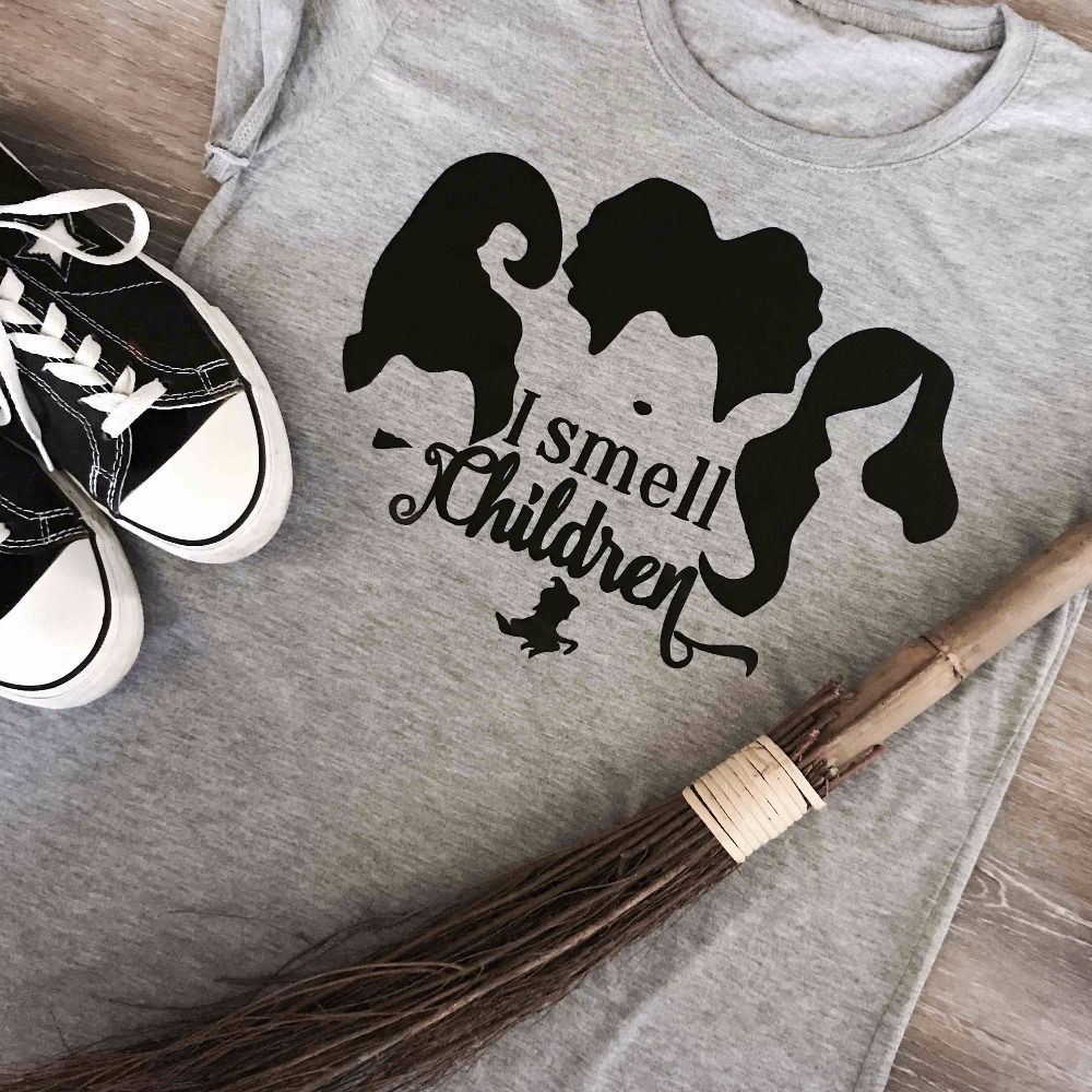 JE Sens Enfants Halloween drôle graphique femmes mode Sorcière balai t-shirts grunge tumblr vacances cadeau slogan horreur kawaii chemises