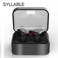 Syllable D9 TWS Bluetooth Wireless Earphone IPX4 Waterproof Sport Earphones In Ear Stereo Earbud Earpiece For