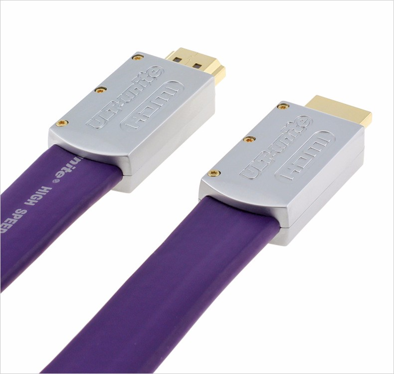 Exclusive Purple Standard HDMI 2.0 Flat Long Certified Cable Wire Male To Male 20m 4K*2K 3D Ethernet 20 meters ,By DHL gold plated nylon braided hdmi cable hdmi 2 0 4k x 2k ethernet support video 4k 2160p hd 1080p 3d 1 5m 3m 5m 10m 15m 20m