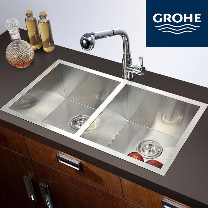 Grohe copper can pull the kitchen to pull the kitchen sink faucet kitchen sink multi purpose