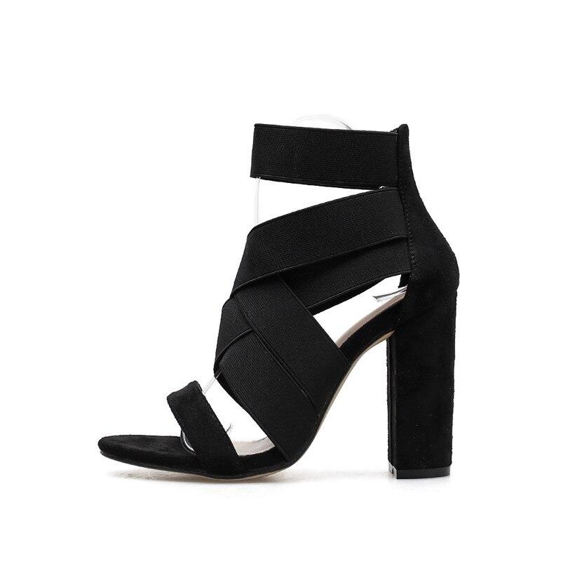 Pompes 2019 Chaussures Talons Noir marron D'été Offre Nouveau Sexy Taille Sandales Plate 35 À Bout Carrés De Femmes forme Mode 40 Ouvert Spéciale 8nkwONPX0
