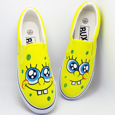 Women Canvas Shoes zapatos mujer Girls Casual Summer Painted Shoes Graffiti Loafers 25 Cartoon Shoes For Choice Size 35-44