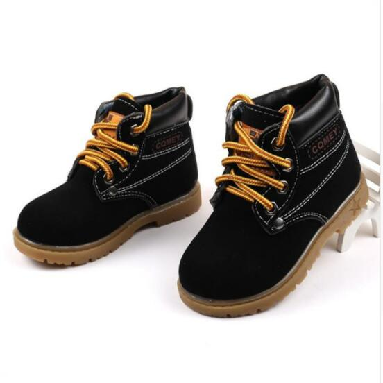 Autumn Winter Hot Sale Child Casual Cotton Boots Kids Non-slip Keep Warm Martin Snow Boots Boys Sneakers Baby Shoe