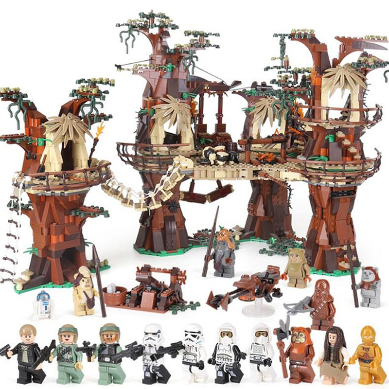 IN STOCK <font><b>05047</b></font> Star Compatible with Legoinglys 10236 Ewok Village Wars Set Building Block Bricks Kids Toys Christmas Gifts Toys image