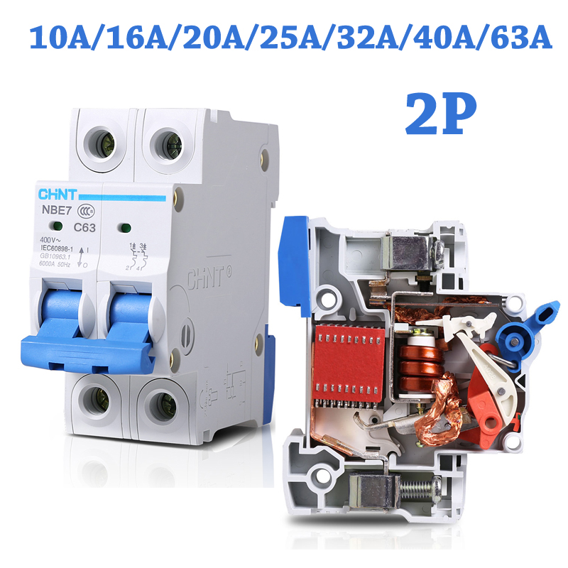 2P 10A/16A/20A/25A/32A/ 230V 50HZ Mini Circuit Breaker MCB C63 C-type 36mm Overload And Short Circuit Protection Air switch DZ47 dhl eub 5pcs new ls miniature circuit breaker rkn 2p 2p 32a 15 18