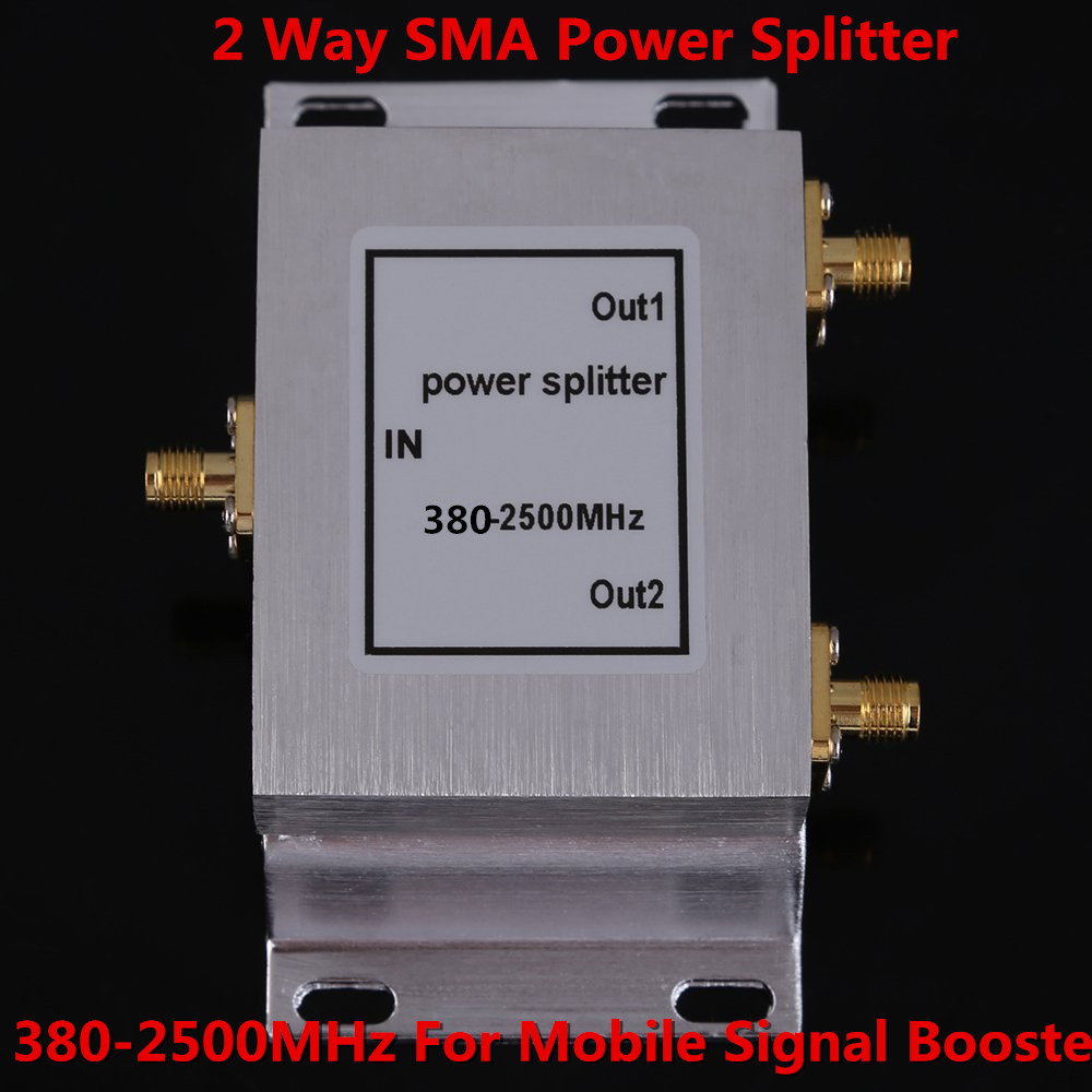 380~2500MHz Power Divider 2-way SMA Power Splitter For GSM CDMA DCS 3g Repeate Signal Booster