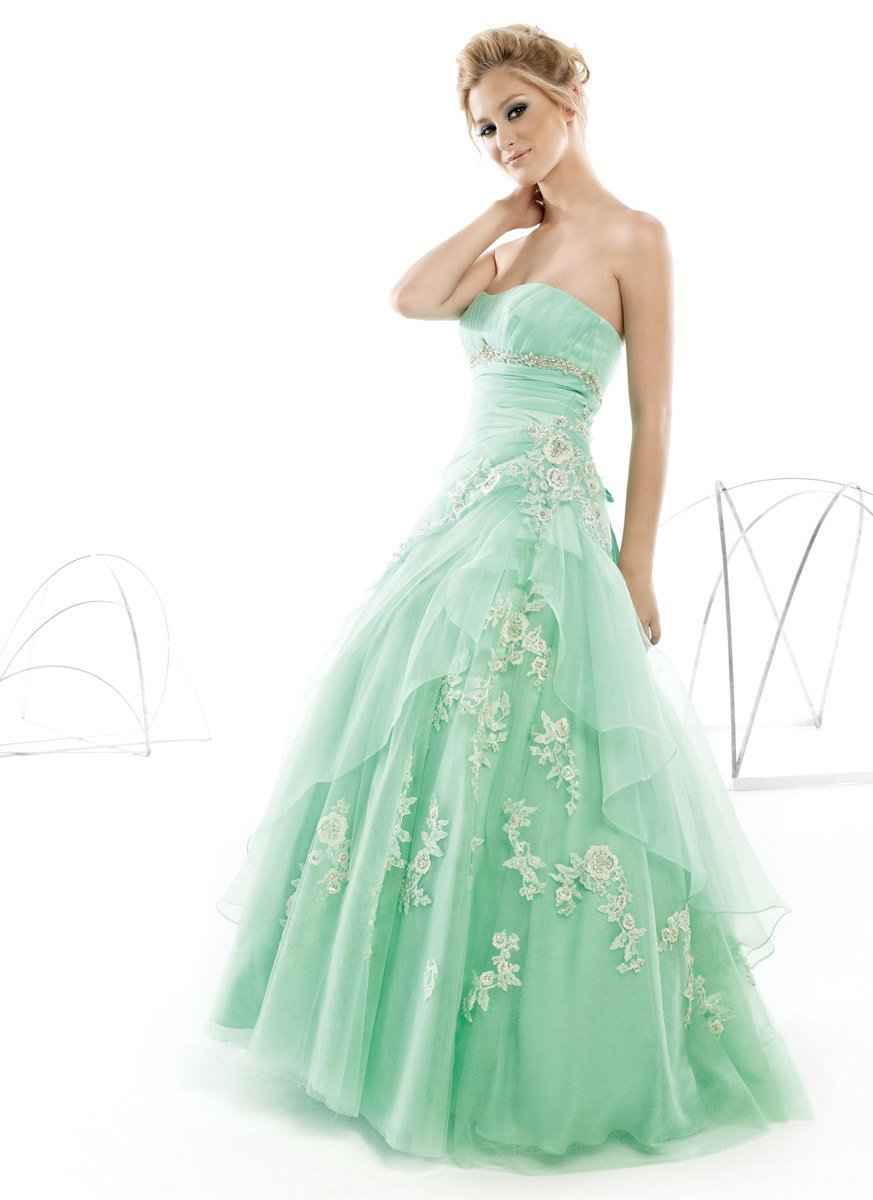 New Arrival Light Green Lace appliques Organza evening party Gowns   Prom     dresses   2019 sweetheart vestidos de gala formatura