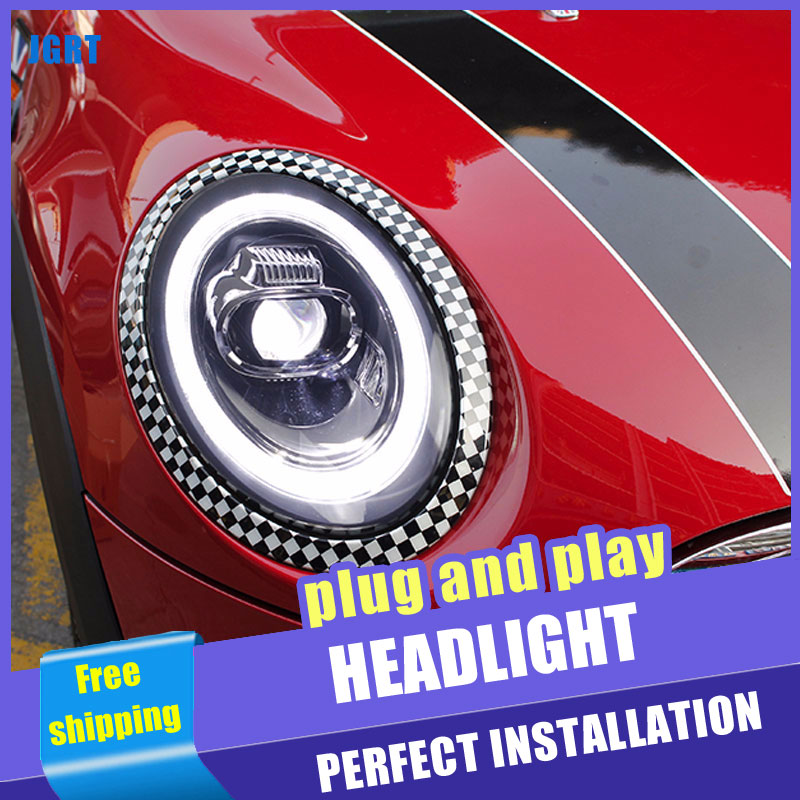 2PCS Car Style LED headlights for BMW MINI 2014 2019 for MIMI head lamp LED DRL